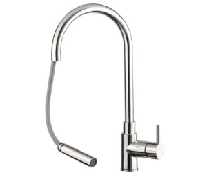 Zecca Stainless Steel Pull Out Sink Mixer