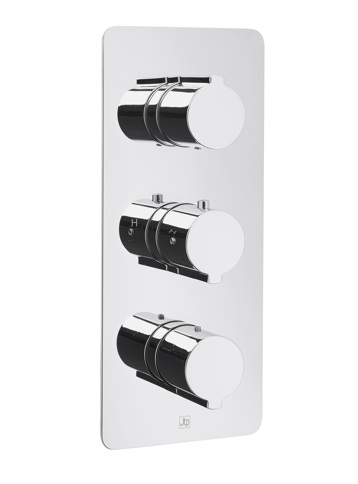 Curve Thermostatic Concealed 3 Outlet Shower Valve, Vertical