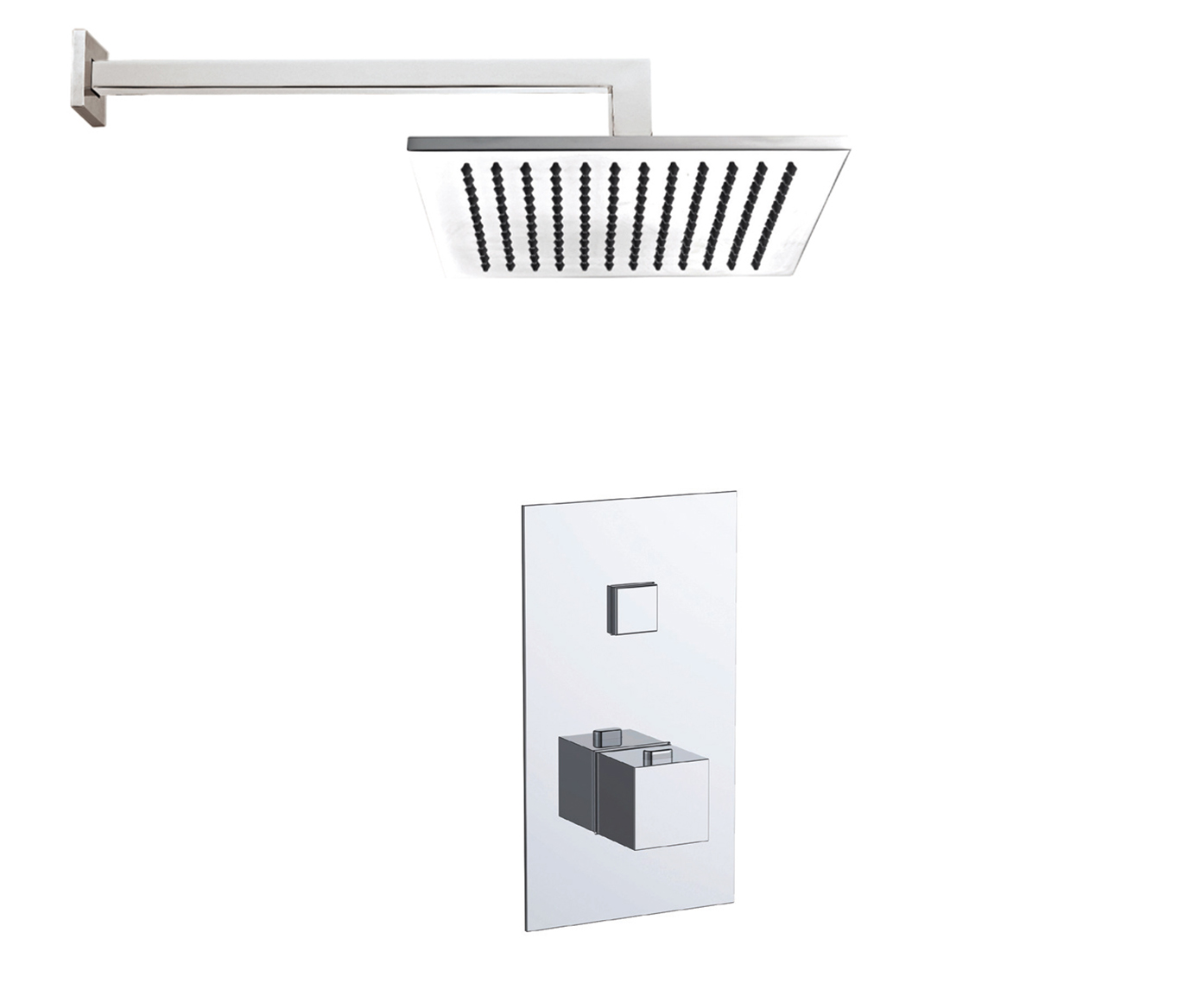 Athena 1 Outlet Touch Thermostat with Overhead Shower
