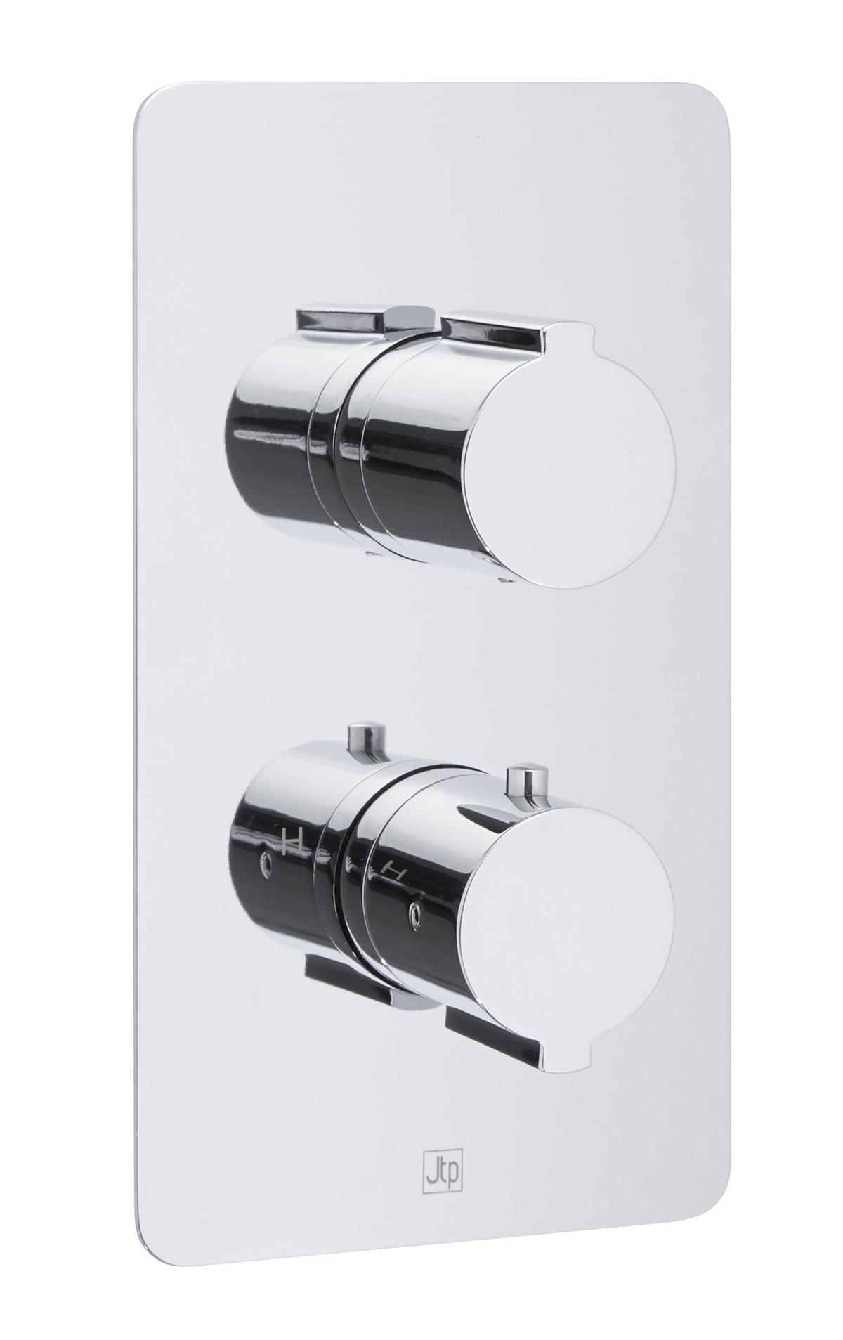 Curve Thermostatic Concealed 2 Outlet Shower Valve MP 0.5
