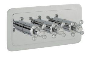 Grosvenor Cross Thermostatic 3 Outlet Shower Valve