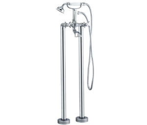 Nelson Floor Standing Bath Shower Mixer with Kit