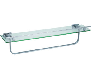 Ludo Tempered Glass Shelf with Bar