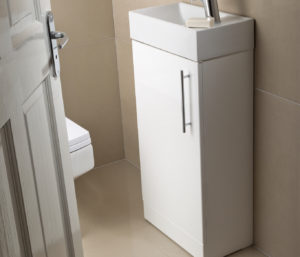 Pace 400 Floor Mounted Unit with Basin - White