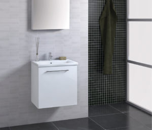 Pace 500 Wall Mounted Vanity Unit with Single Door