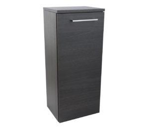 Single Door Side Cabinet - Black