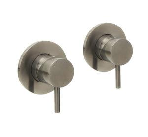 VOS Brushed Black  wall valves MP 0.5