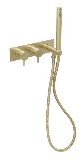 VOS thermostatic concealed 2 outlet shower valve, handset MP 0.5