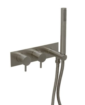 VOS thermostatic concealed 2 outlet shower valve, handset,