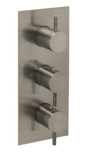 VOS thermostatic concealed 2 outlet shower valve, vertical