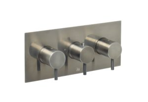 VOS thermostatic concealed 3 outlet shower valve, horizontal