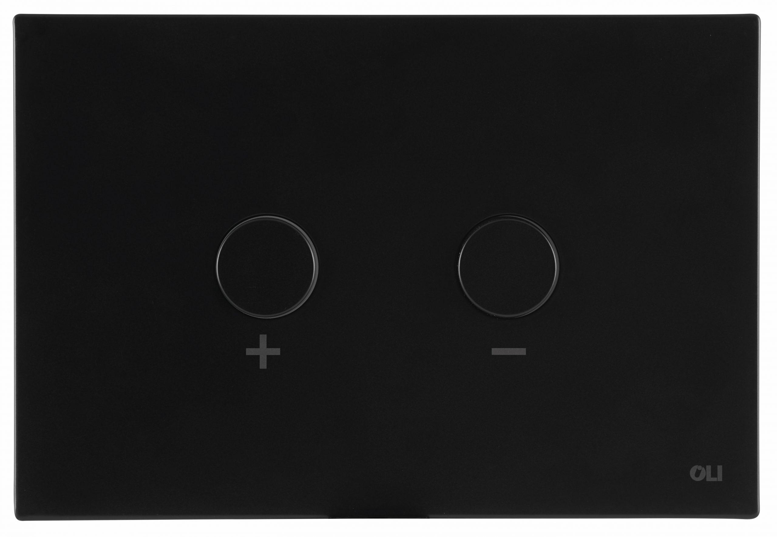Vos Toilet Frame with Button Matt Black